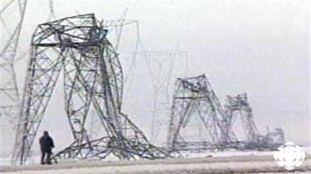 When one giant transmission pylon failed, it caused a domino effect taking down dozens of others, and causing a massive blackout to much of southern Quebec