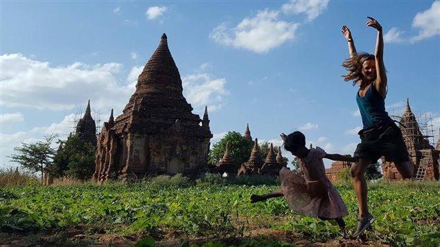 Myriam Laroche au Myanmar