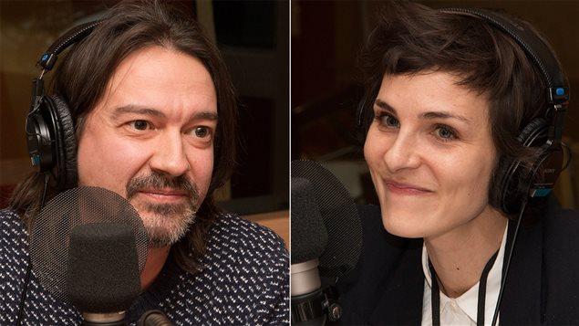 Le professeur Maxime Ouellet et la comédienne Dominique Leclerc
