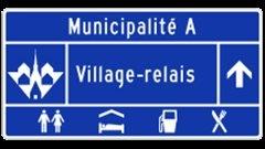 Panneau « Village-relais »