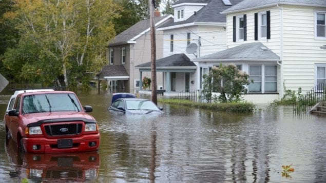 Torrential rains caused flooding in parts of Atlantic Canada in early October 2016. Insurers renewed calls for a National Flood Plan.