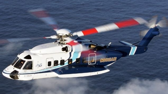 Cougar Helicopters uses Sikorsky S92 aircraft to transport workers from it eastern coast of Newfoundland to offshore oil rigs.