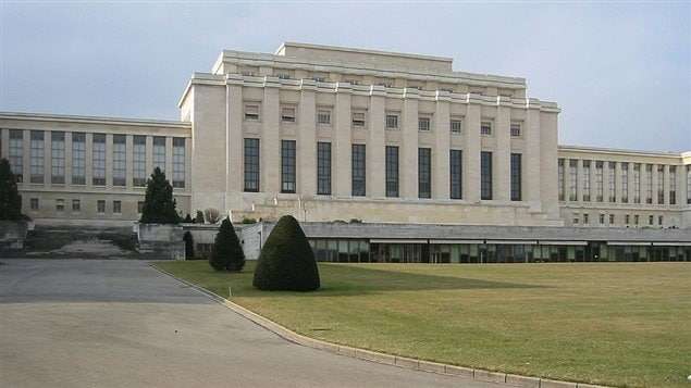 Place des Nations (shown in 2005), was the headquarters of the League from 1936 until dissolution in 1946