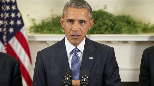 Le président des États-Unis Barack Obama lors d'un point de presse à la Maison-Blanche
