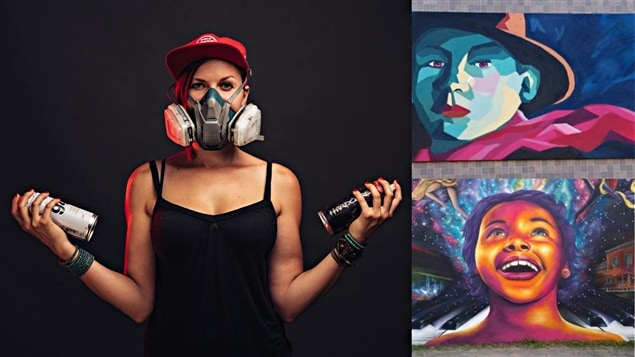 Des photos de l'artiste et de ses oeuvres
