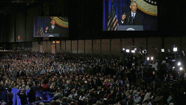 Miles de personas colmaron el lugar en el que se realizó el discurso.