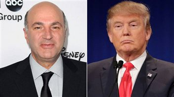 Kevin O'Leary et Donald Trump.