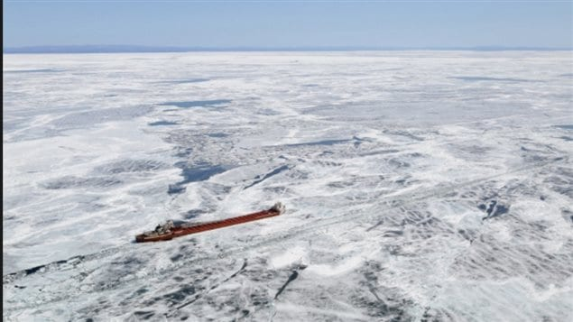 A freighter sits in ice near Whitefish Bay, on Lake Superior on April 7, 2015. The world's lake have an impact on the hydrology cycle, climate and the whole environment, In addition to helping determine their role, the database determined such factors as the flow rate of the world's lakes. In Superior for example water will take 130 years to enter and leave the lake