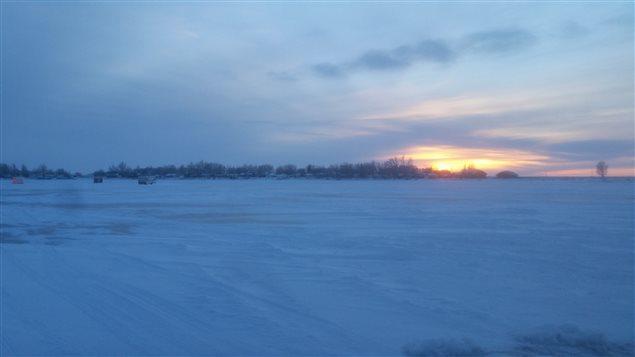 Un paysage d'hiver en Saskatchewan