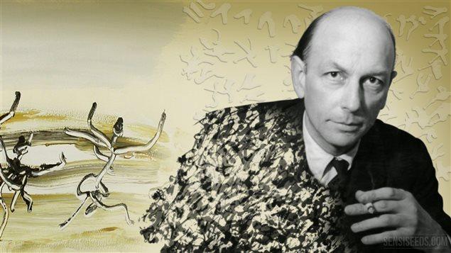 Le poète, écrivain et peintre Henri Michaux (1899-1984)