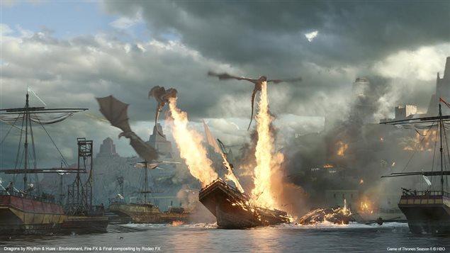 Une scène de la série Game of Thrones