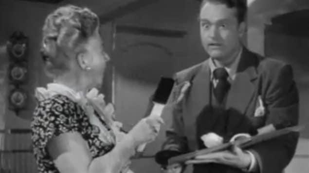 Red Skelton in the 1948 film *The Fuller Brush Man*