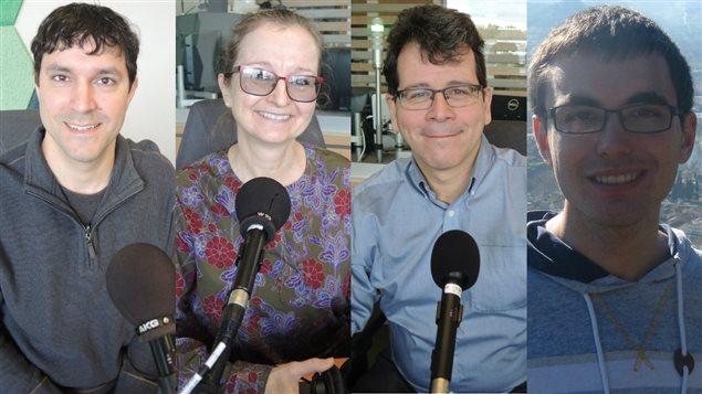 Mathieu Lang, Sylvie Blain, Jac Gautreau et Guillaume Deschênes-Thériault