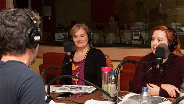Matthieu Dugal avec Martine Pagé et Myriam Daguzan