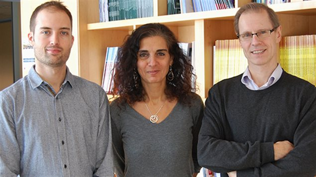 L-R: Simon Papillon-Cavanagh, McGill University PhD candidate, Dre Nada Jabado and Jacek Majewski, PhD