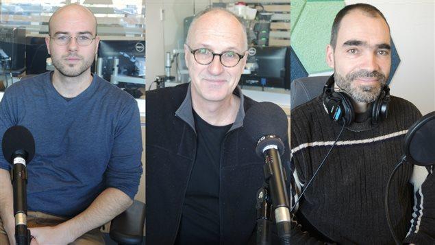 Simon Dubé, Michel Desjardins et Brian Branch