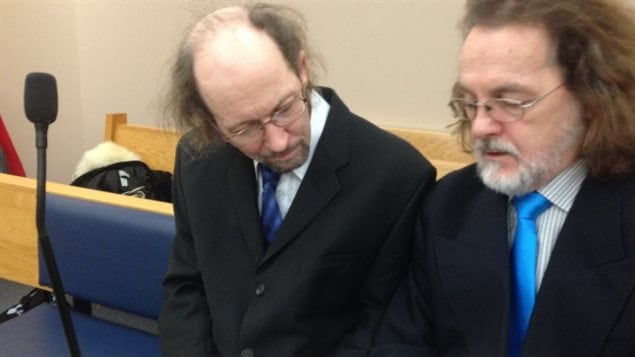Accused, Kenneth Harrisson ,aged 51(left) in court Monday with his lawyer Bob Buckingham.