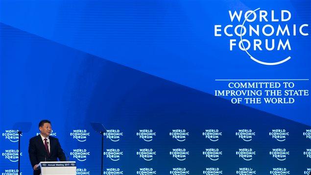 Le président chinois Xi Jinping à l'ouverture du Forum économique mondial de Davos