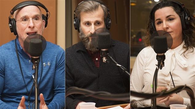 Simon-Louis Lajeunesse, Martin Gareau et Marilyse Hamelin