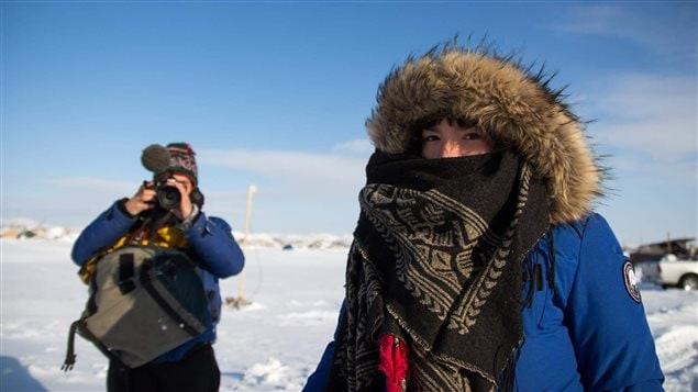 L'écrivaine et poétesse innue Natasha Kanapé Fontaine à Standing Rock