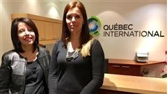 Martine Lessard de Quebec International et Karine Ouellet de RelocQuebec