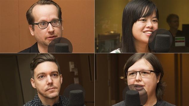 De gauche à droite et de haut en bas : Simon Diotte, Van-Anh Hoang, Jean-Sébastien Pilotte et Maryse Charbonneau