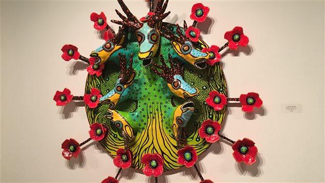 Voici un des tableaux-sculptures de Dinorah Catzalco.