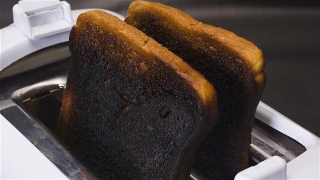 Tranches de pain calcinées.
