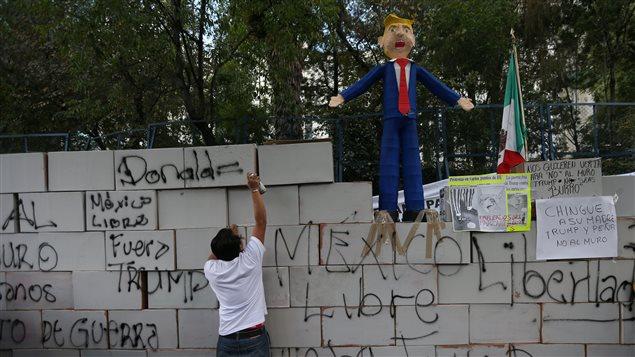 Protesta contra Trump en México.
