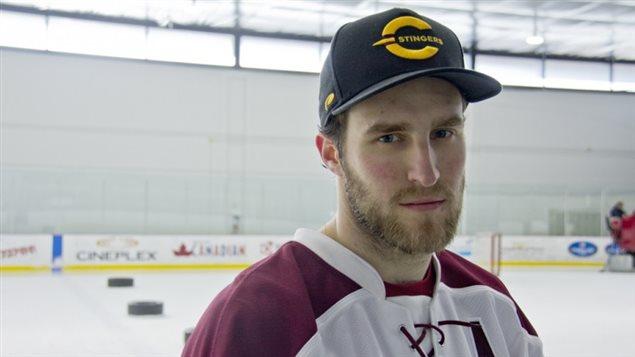 Le joueur de hockey Philippe Hudon