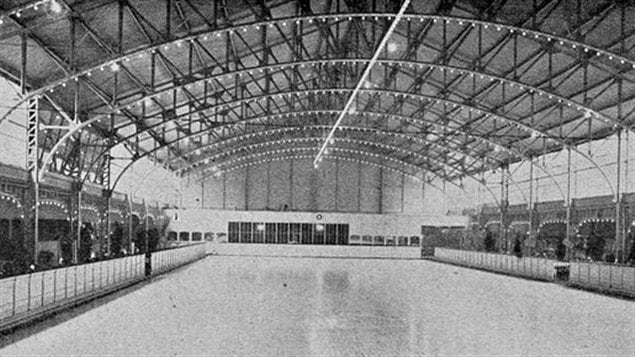 Palais de Glace d'Anvers ice skating rink in Antwerp, Belgium, venue for demonstration ice hockey and figure skating at the 1920 Summer Olympics. These was deemed to have enough interest to organize a separate winter sports event.