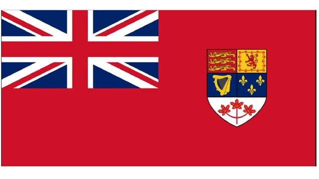 The slightly modified 1957 version of the Canadian Red Ensign