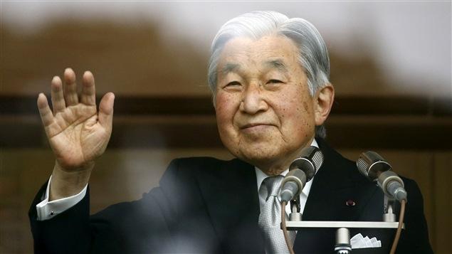 L'empereur du Japon Akihito lors de la célébration de son 82e anniversaire, le 23 décembre 2015.