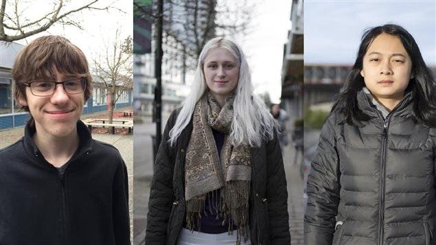 Ashton Ramsay, Tannis Jensen et Anli Qi.