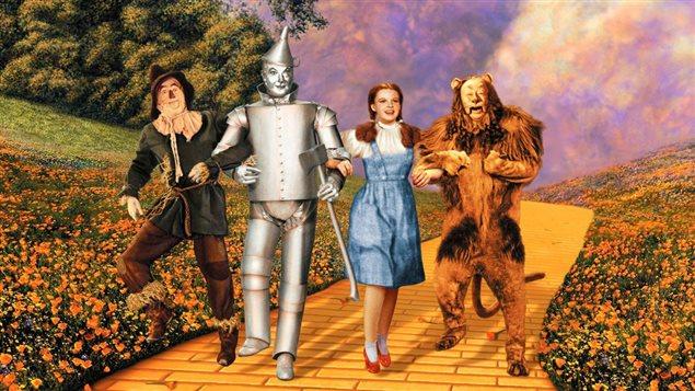 Les personnages principaux du film américain Le magicien d'Oz (1939)
