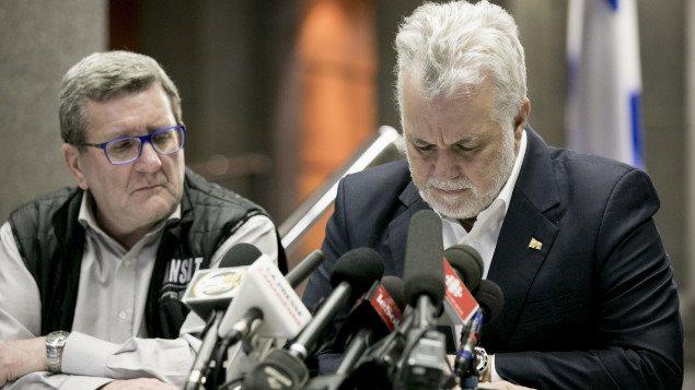 Le maire de Québec et le premier ministre du Québec.
