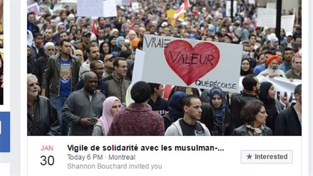 Rallies were organized to support the Muslim community after the fatal attack on the Quebec City mosque.