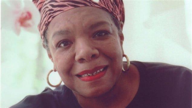 L'auteure, actrice et militante américaine Maya Angelou