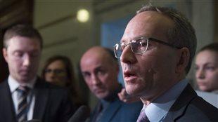 Le ministre de la Sécurité publique et des Affaires municipales du Québec, Martin Coiteux