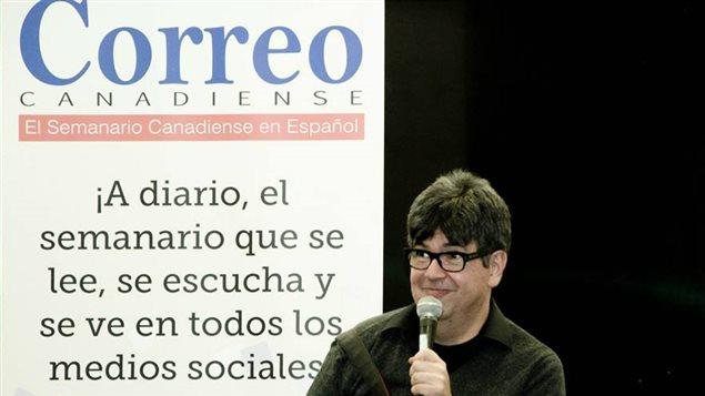 Freddy Velez, Editor general del semanario hispano Correo Canadiense de Toronto.