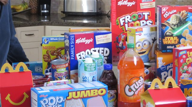 The bright colours and cartoon characters on processed foods are irresistible to children who demand their parents buy them.