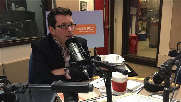 André Bergeron, vice-président du conseil d'administration de la Bibliothèque publique d'Ottawa