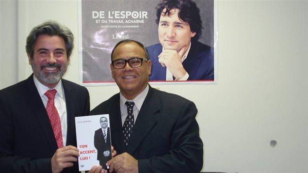Luis Zúñiga y el político argentino-canadiense Pablo Rodríguez, nombrado recientemente por Justin Trudeau, líder de los diputados federales en el Parlamento.