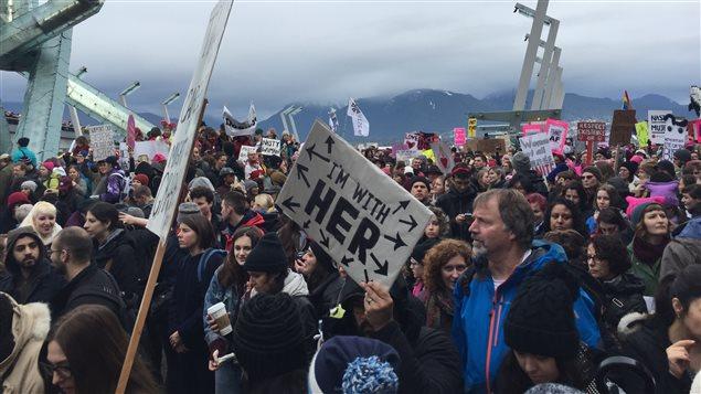 Marche à Vancouver contre l'investiture de Donald Trump