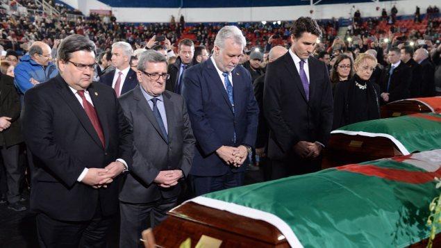 كبار المسؤولين الكنديّين والكيبيكيّين يشاركون في مراسم تشييع ضحايا مسجد كيبيك الكبير