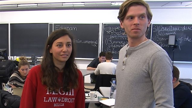 Rachelle Bastarache and Brodie Noga are among many Canadian law students who have offered to help.