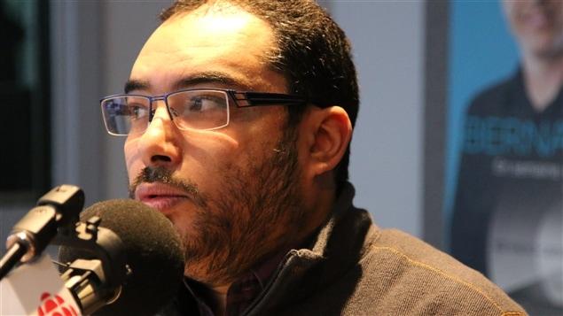 Taïeb Moalla, journaliste du Journal de Québec, qui a couvert  l'attentat au Centre culturel islamique de Québec.