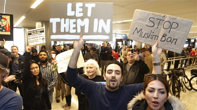 The U.S. travel ban caused chaos for thousands trying to get back into the country.