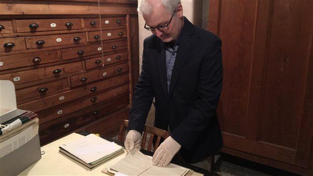 Marc Lacasse, archiviste pour les prêtres de Saint-Sulpice de Montréal