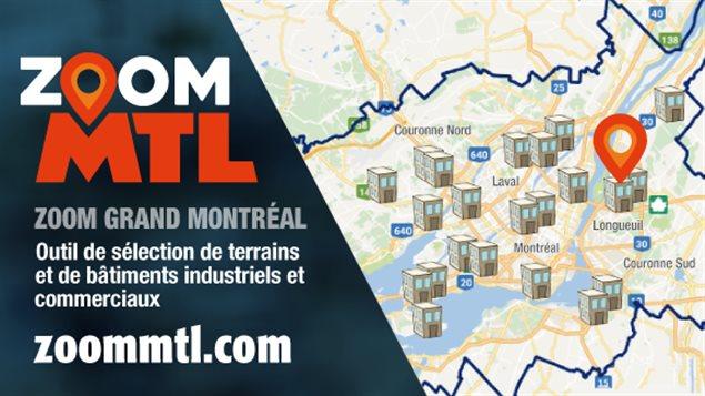 Zoom Montréal, l'outil Web qui centralise toutes les informations sur la logistique et les infrastructures pour les entreprises qui veulent s'installer à Montréal